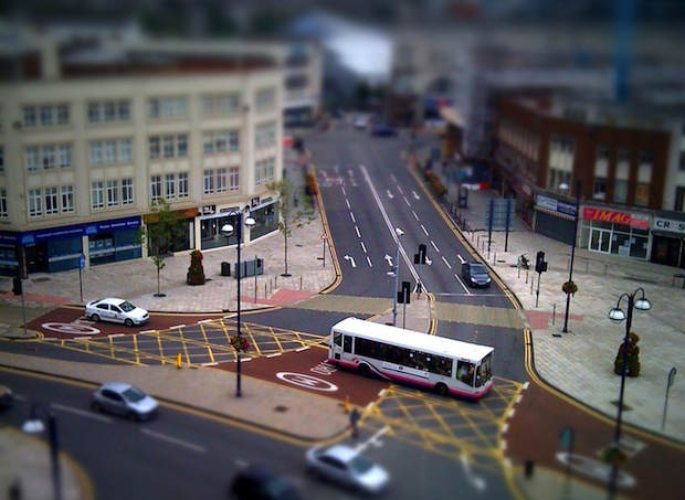 Jason Stanley's Tilt-Shift of the new Swansea Bus Layout